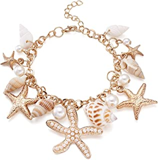 Sea Shell Bib Beach Starfish Pearl Statement Chunky Pendant Jewelry