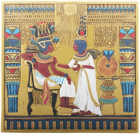 YTC Egyptian Hieroglyphical TUT Throne Decorative New Orleans Mall Wall Sale special price Pla Scene