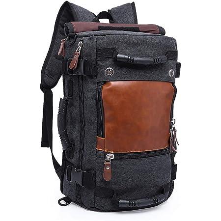 TENSKY Viajar Mochila para Hombres 30L Llevar en el Vuelo Lienzo Vintage Bolsa de Deportes al Aire Libre casural Daypack