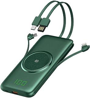 Trådlös laddare 20000 mah Power Bank USB C bärbar laddare, batteriladdare med inbyggd kabel / 5 utgångar / 2 ingångar exte...
