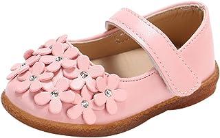 5b77dc89 K-youth Zapatos Bebe Niña Primeros Pasos Bautizo Flores Zapatos de Princesa  Chicas Sandalias de