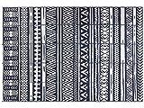 Famibay Alfombras de Salon Azul Oscuro Alfombrillas para Yarda Plástica tapete Alfombra 6x9ft