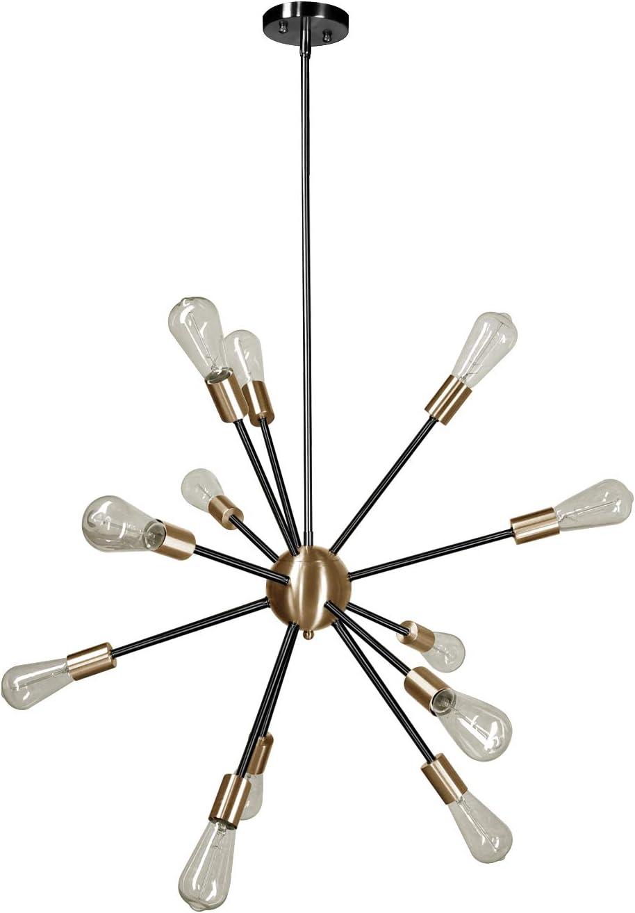 Modern 12 Light Chandelier Pendant Mid Super intense SALE with Sockets Lighting UL Nippon regular agency