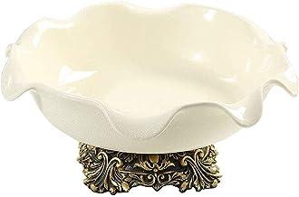 Ceramic Fruit dish, Modern Ceramic Living Room Fruit Plate Crack Candy Plate Soft Decoration Gift Lzpzz