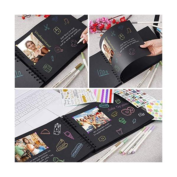 61LhjarErsL. SS600  - YCM Fotoalbum, Fotoalbum zum Selbstgestalten, DIY Fotobuch 80 Seiten, Größe 28.5x21cm, Kann als Abschluss Geschenk, Geburtstagsgeschenk, Hochzeitstagsgeschenk und mehr verwendet Werden