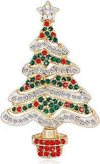 PULABO Navidad Año Nuevo Estrella Árbol Broche Banquete Pines Decoraciones Insignia Cómodo y Ambientalmente Fiable