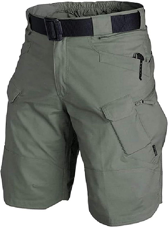 Casual Men Tactical Shorts, Waterproof Hiking Fishing Breathable