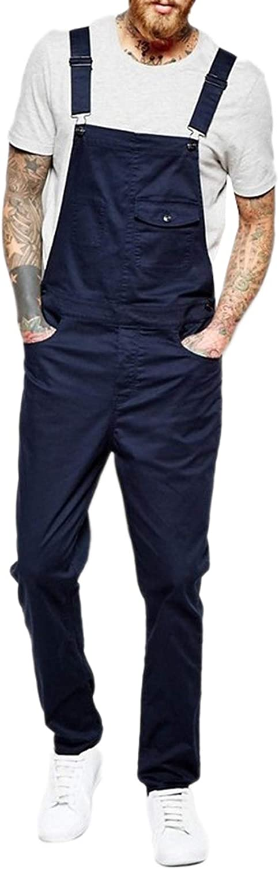 Popular standard Columbus Mall WSLCN Mens Denim Bib Overalls Pants Jeans Jumpsuits Ad Suspender