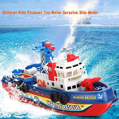 Atyhao Juguete de Barco de Bomberos para niños, Modelo de