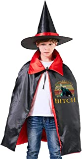QINWEILU Voldemort Avada Kedavra Bitch Unisex Kids Hooded Cloak Cape Halloween Party Decoration Role Cosplay Costumes Outwear Red