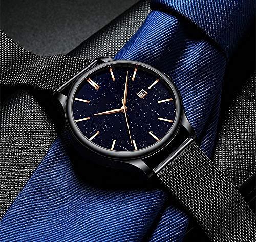 Voigoo Frauen Uhren Top-Marke Luxux nehmen Sternenhimmel Uhr for Damen Mode Kleid Quarz-Armbanduhr-Geschenk-Mesh-Band-Uhr