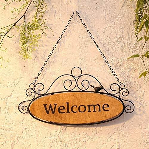 Soyizom Cartel de Bienvenida de Madera para Colgar en la Pared y Carteles de Placa rústica para el hogar y jardín de Bodas francés Cartel de Bienvenida para la decoración de la Puerta Principal