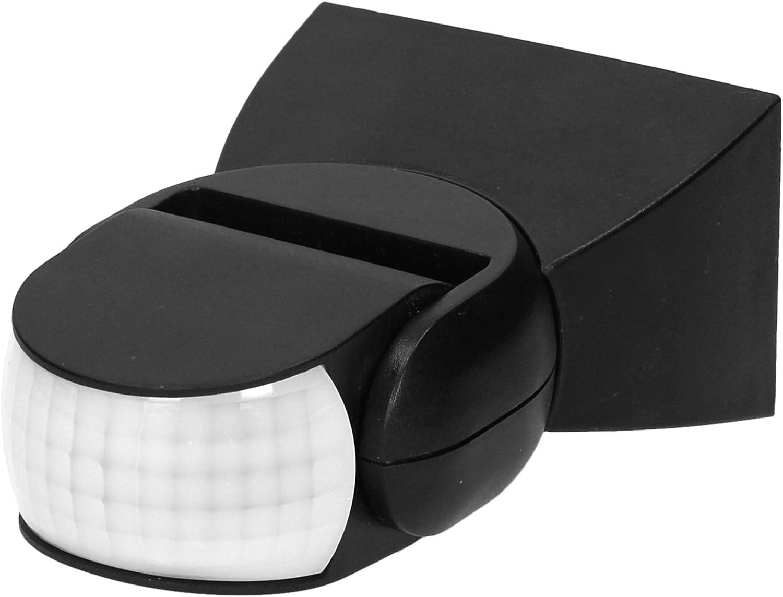 ORNO CR-236 Sensor De Movimiento Exterior Con Sensor Crepuscular 180 Grados 1200w Max. Ip65 Impermeable (Negro)