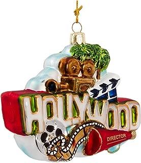 Kurt Adler Glass Hollywood Sign Ornament, 5-Inch