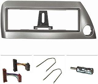 tomzz Audio 2415-091 Radio installatie frame Set geschikt voor Ford ka rbt jaar 1996-2008 zilver-metaal met radio-adapter ...