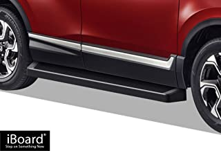 APS iBoard Running Boards (Nerf Bars Side Steps Step Bars) Compatible with 2016-2020 Honda Pilot Sport Utility 4-Door (Black Powder Coated Running Board Style)