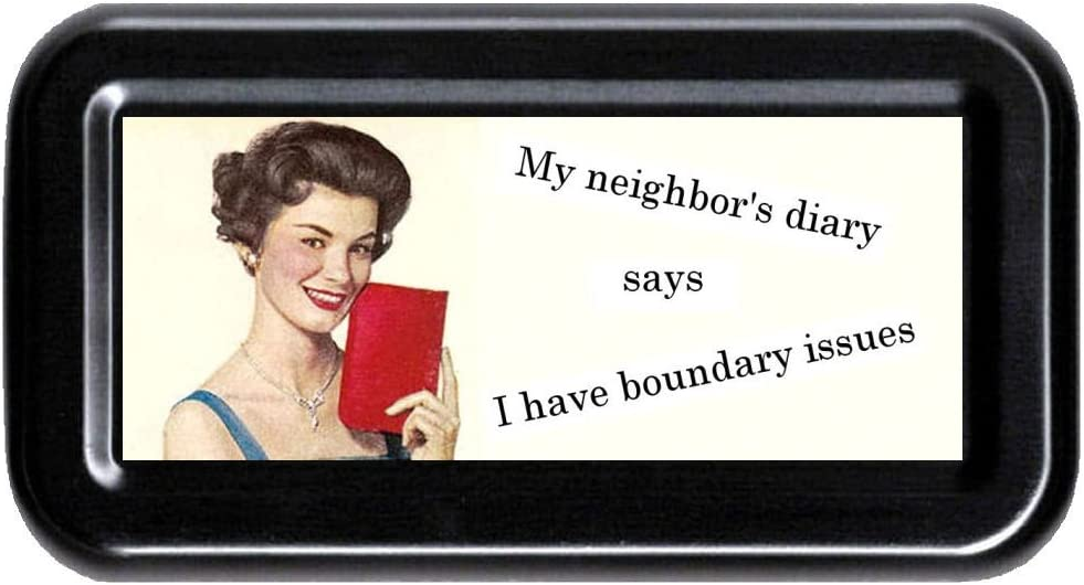 My Neighbor's Gifts Diary Funny Retro High quality Case Tampon