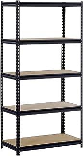 EDSAL Black Steel Heavy Duty 5-Shelf Shelving Unit, 4000lbs Capacity, 36