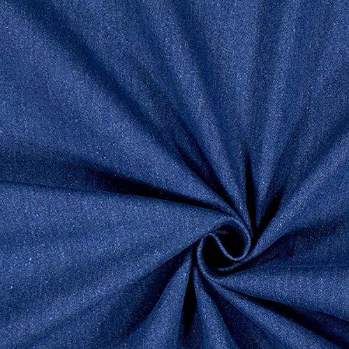 Fabulous Fabrics Jeans marineblau, Uni, 150cm breit – Jeans zum Nähen von Frühlings-/Sommerkleidung, Jacken und Hosen – Meterware erhältlich ab 0,5 m