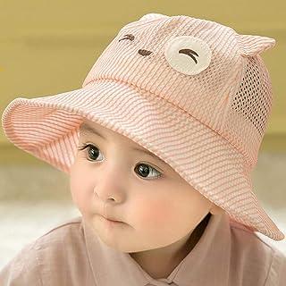 Sombreros para el sol para niños, sombreros para el sol lindos bebés, gorros para el sol con borde ancho, portátil plegable, protección solar, sombreros para el sol en la playa de verano, cuerda a prueba de viento,Pink