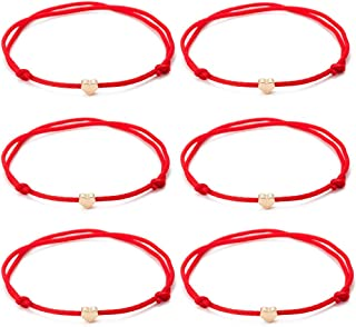 red string friendship bracelet