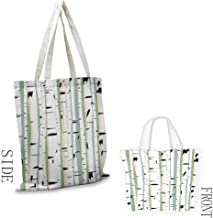 Tote bag Forest Dense Tree Formation Birch Trunks Abstract Grove Botanical Countryside Backwoods Coin cash wallet 16.5