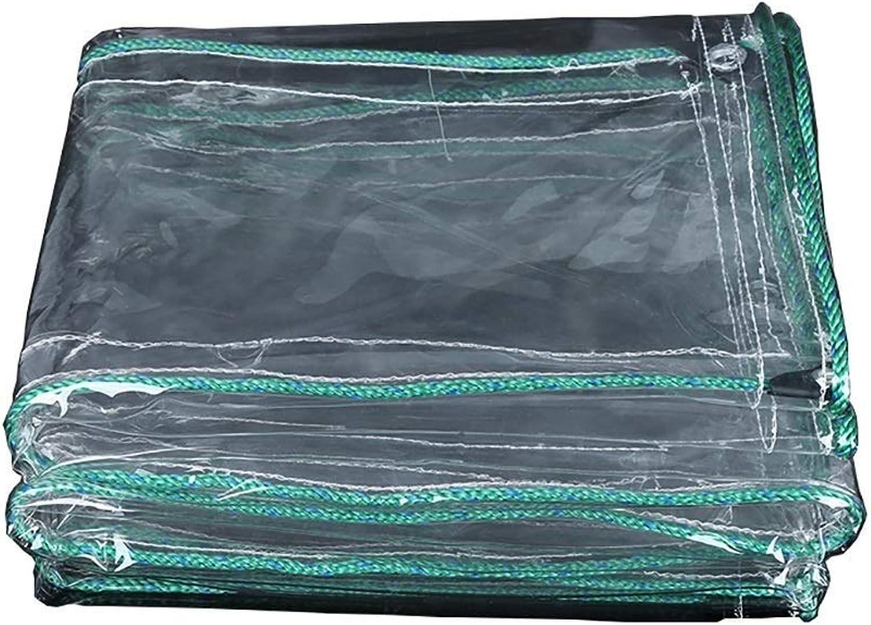 2BRNEBN Rainproof Cloth, Tarpaulin Transparent Canvas Tarps Transparent Balcony Rain Curtain Sunscreen Cloth PVC Thickening Plastic Cloth