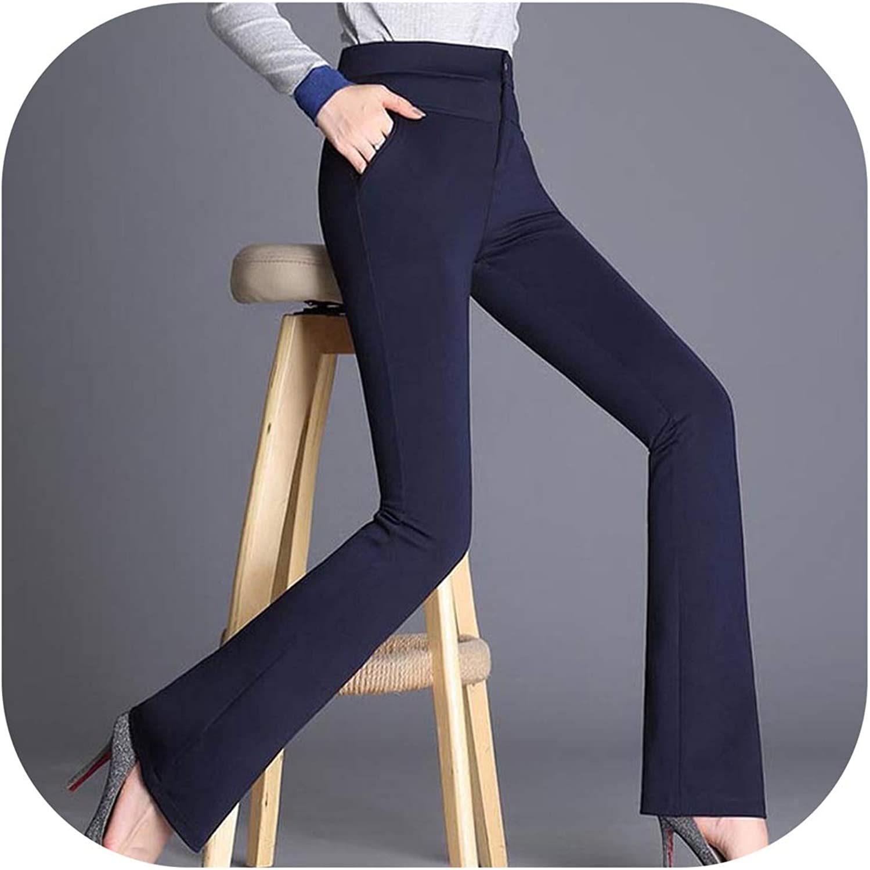 High Waist Slim Pants Women Spring OL Flare Pant Trousers Work Pants Long Trousers