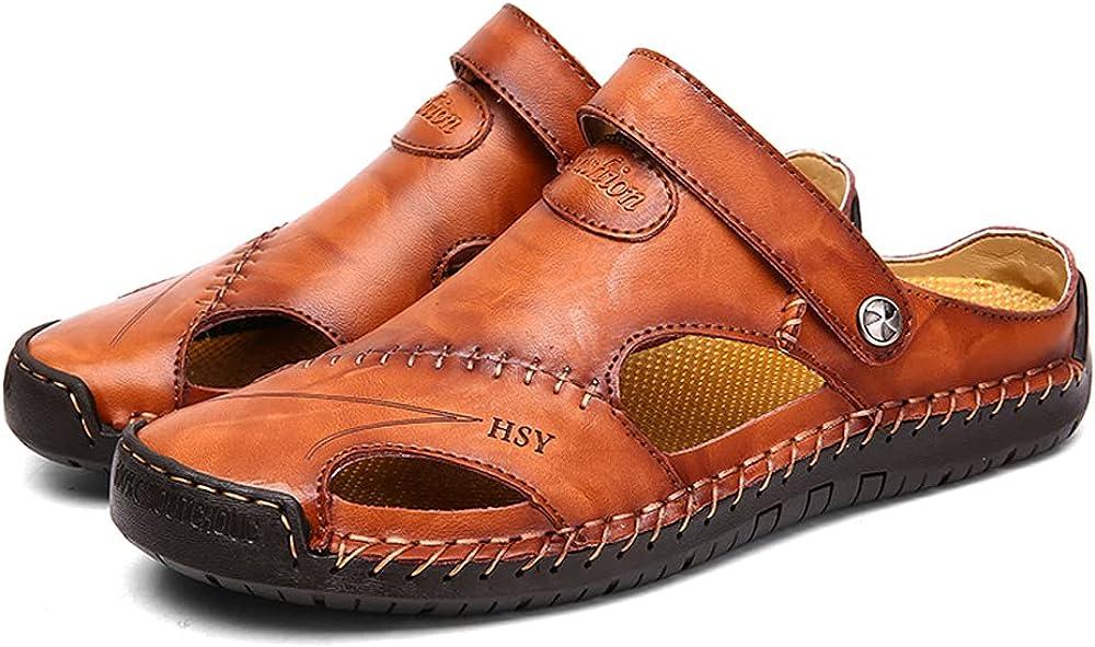 Men's quality assurance Leather Athletic Sandals wholesale Adjust Closed-Toe