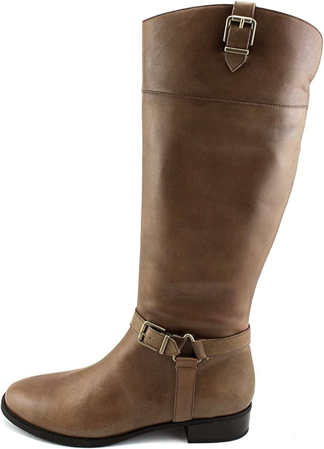 INC International Concepts Womens Fedee WC Leather Closed Toe, Cement, Size 9.5