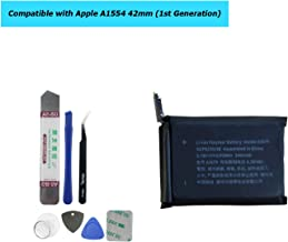 Upplus A1579 Replacement Battery Compatible with Apple A1554 42mm (1st Generation) iWatch Smart Watch with Toolkit