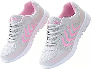 7913d610e0 Alicegana Women's Breathable Mesh Tennis Athletic Fashion Walking Sports  Running Sneakers Shoes