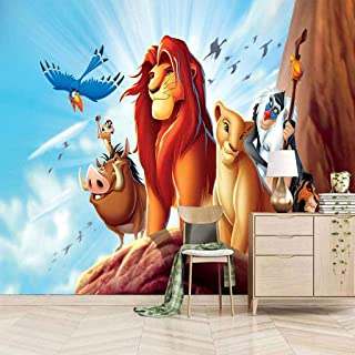 VITICP Adults Kids Wall Stickers Decals Peel and Stick Removable Wallpaper Cartoon Animal Lion for Nursery Bedroom Living ...
