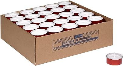 Rosso Cera 6 unit/à Cereria di Giorgio Liturgico Lumino Votivo 4.4x4.8x4.4 cm