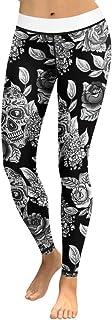 Lcoco&Dream Printed Yoga Pants Women Anti-Sweat Bodybuilding Sport Skull Leggings Dry Fit
