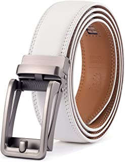 Leather Ratchet Belt For Men - Adjustable Click Belt - Casual Dress Belt