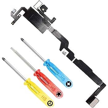 MMOBIEL Repuesto Altavoz Auricular y Sensor Luz Ambiental Cable Flex Incl Mic Compatible con iPhone X 5.8 pulg y Htas.