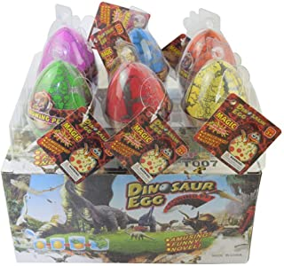 comprar comparacion Wenosda Dino Dinosaur Dragon Eggs Hatching Growing Toy Paquete de Gran tamaño de 6 Piezas, Crack de Color