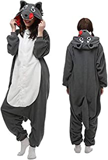 Unisex Adult Animal Pajamas Soft One-Piece Halloween Cosplay Costume
