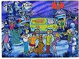 Rompecabezas de madera para niños y adultos, familias Scoo-by-Do-o Dog Movie Poster Art 1000 piezas rompecabezas de descompresión juguetes juego de rompecabezas ideal para relajación meditación