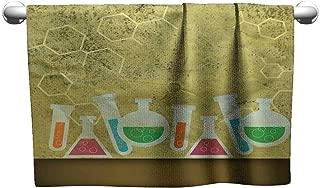 Tankcsard Square Towel Retro Chemistry Background,freestanding Towel Racks for Bathroom
