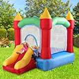 Inflatable Jumping Slide Bounce House Bouncy Castle Jumper Bouncer Activity Center Kids Outdoor w/Oxford Carrying Bag (Blower not Included)