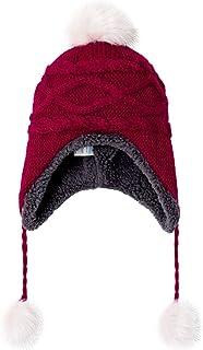 LeafIn ベビー 帽子 ニット帽 キッズ 子供用 帽子 耳あて 防寒帽子 秋冬 ベビー 防寒 ボア ポンポン 男の子 女の子 冬用ハット 男女兼用 親子そろい