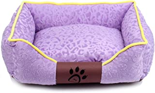 Deluxe Pet Bed for Cats and Small Medium Dogs Rectangle Cuddler with Soft Detachable Cushion Removable and Washable