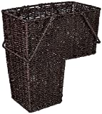 Trademark Innovations 14' Wicker Storage Stair Basket with Handles (Brown)