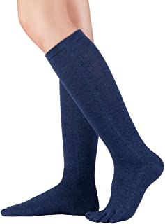 Knitido, Calcetines de dedos hasta la rodilla Cotton and Merino, calcetines hasta la rodilla con dedos