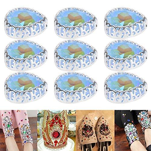 Gota de diamantes de imitación de moda para la decoración de vestidos de novia(Light blue)