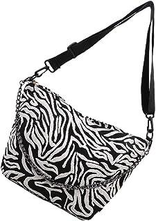 PRETYZOOM Bolsa tiracolo feminina com estampa de zebra, vintage, retrô, clássica, sacola de compras, festa, fashion, bolsa...