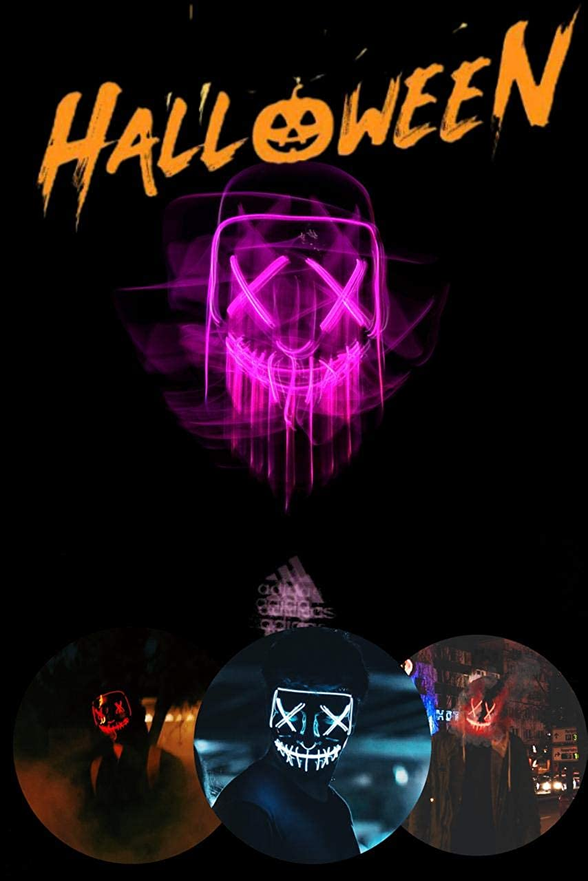 Max 79% OFF Halloween Mask LED Light Up mask Ha Challenge the lowest price of Japan Creepy for Scary