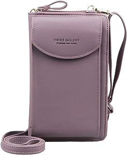 Jangostor Billetera pequeña con Bolso de Crossbody, Bolso para el teléfono Celular con Ranuras para Tarjetas de crédito